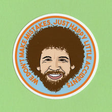Load image into Gallery viewer, Bob Ross Vinyl Sticker available from Indie Edinburgh