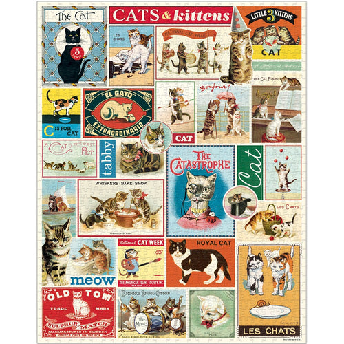 Cavallini Cats & Kittens Vintage Jigsaw Puzzle from Indie Edinburgh