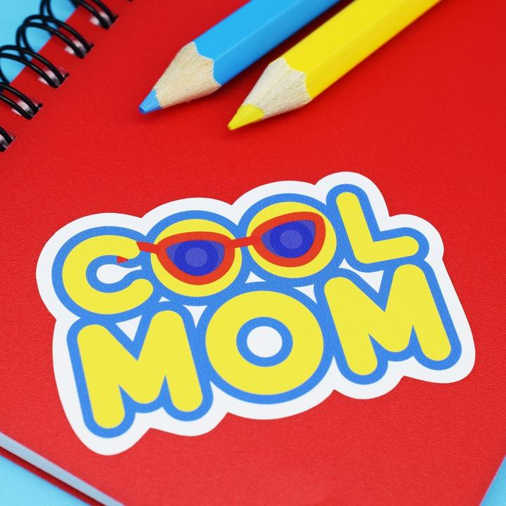Cool Mom Vinyl Sticker available from Indie Edinburgh