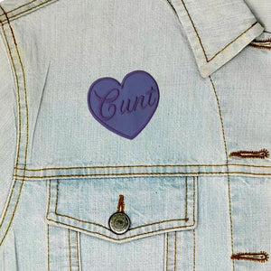 C*nt Heart Iron On Patch available from Indie edinburgh