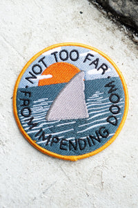 Stay Home Club Impending Doom iron on patch from Indie Edinburgh