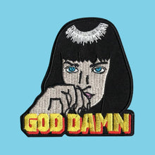 Load image into Gallery viewer, Luna Mcr Mia Wallace Pulp Fiction Iron On Patch from Indie Edinburgh