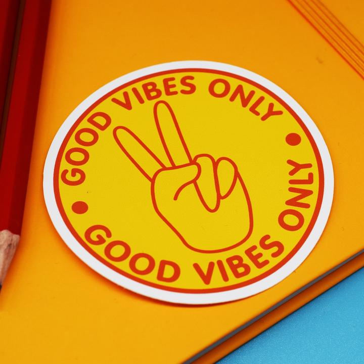 Good Vibes Only Vinyl Sticker available from Indie Edinburgh