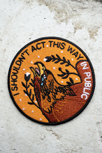Stay Home Club Act This Way iron on patch from Indie Edinburgh