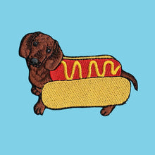 Load image into Gallery viewer, Hot Dog Iron On Patch available from Indie Edinburgh