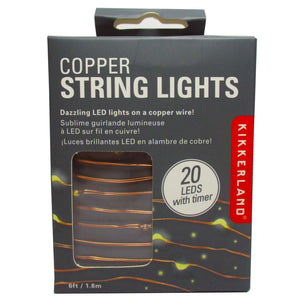 copper string lights by kikkerland available from Indie Edinburgh
