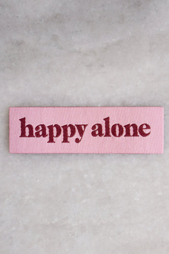 Stay Home Club Happy Alone tiny woven patch Indie Edinburgh