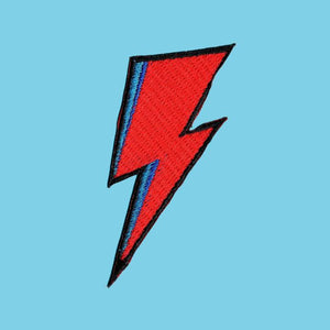 Bowie Lightning Iron On Patch available from Indie Edinburgh