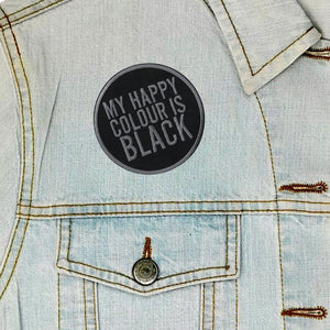 Luna Mcr My Happy Colour Is Black Iron On Patch from Indie Edinburgh