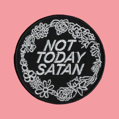 Luna Mcr Not Today Satan Iron On Patch available from Indie Edinburgh