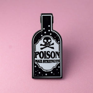Poison Bottle Enamel Pin available from Indie Edinburgh