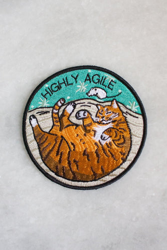 Stay Home Club Highly Cat Agile patch from Indie Edinburgh