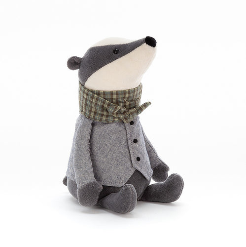 Jellycat Riverside Rambler Badger available from Indie Edinburgh