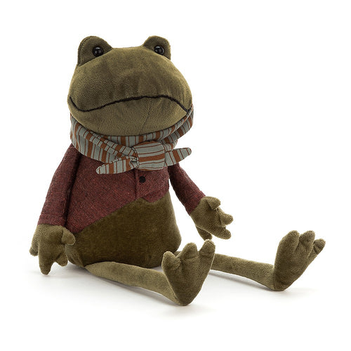 Jellycat Riverside Rambler Frog available from Indie Edinburgh