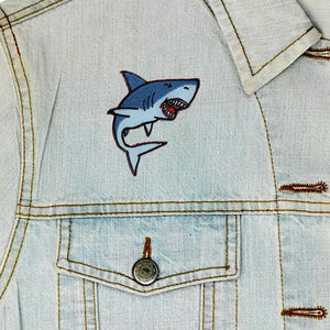 Shark Iron On Patch available from Indie Edinburgh