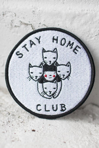 Stay Home Club iron on patch from Indie Edinburgh