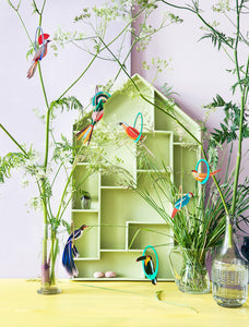 Studio Roof Swinging Parakeets Pop Out Card from Indie Edinburgh