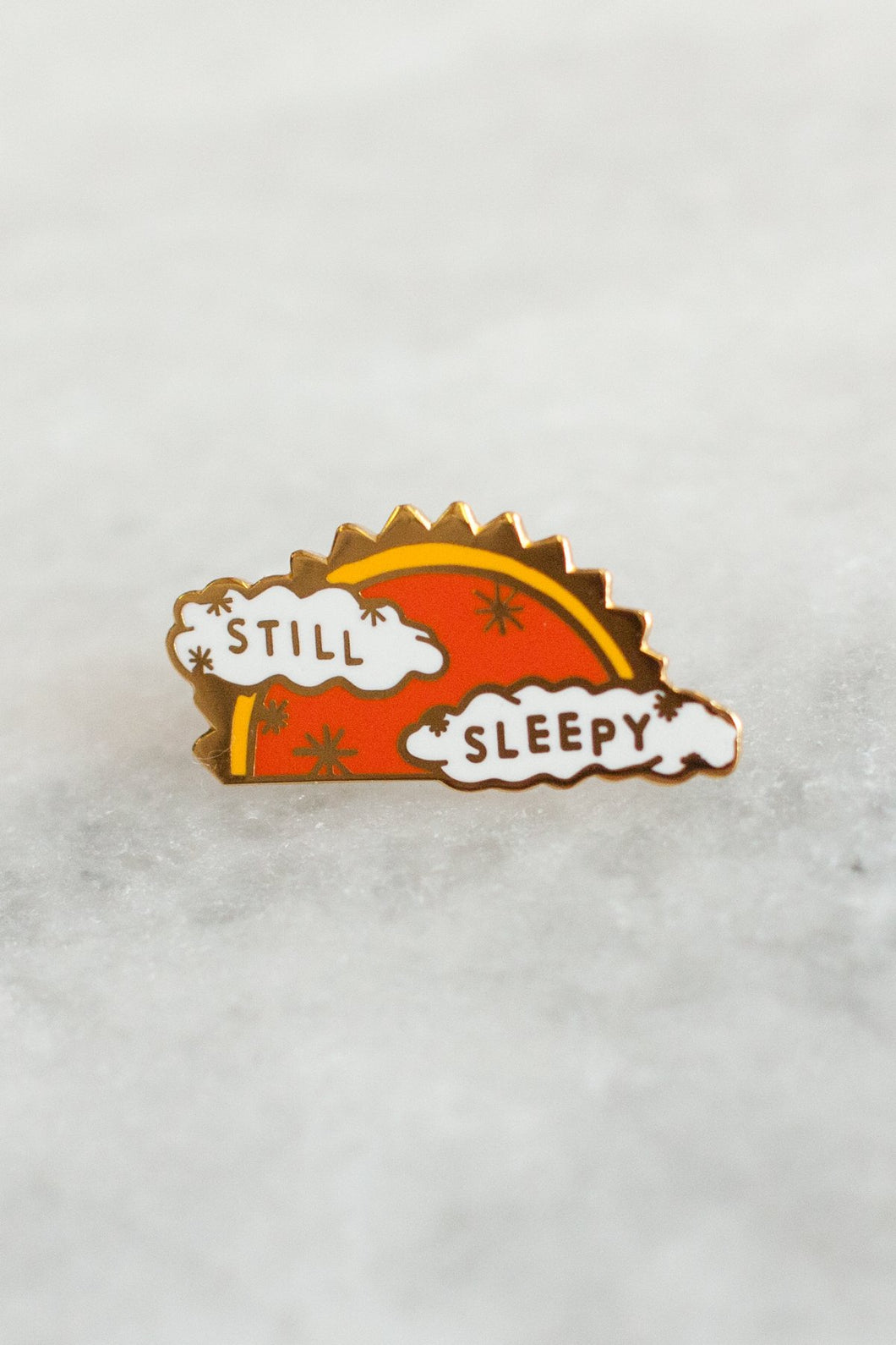 Stay Home Club Still Sleepy Enamel Pin from Indie Edinburgh