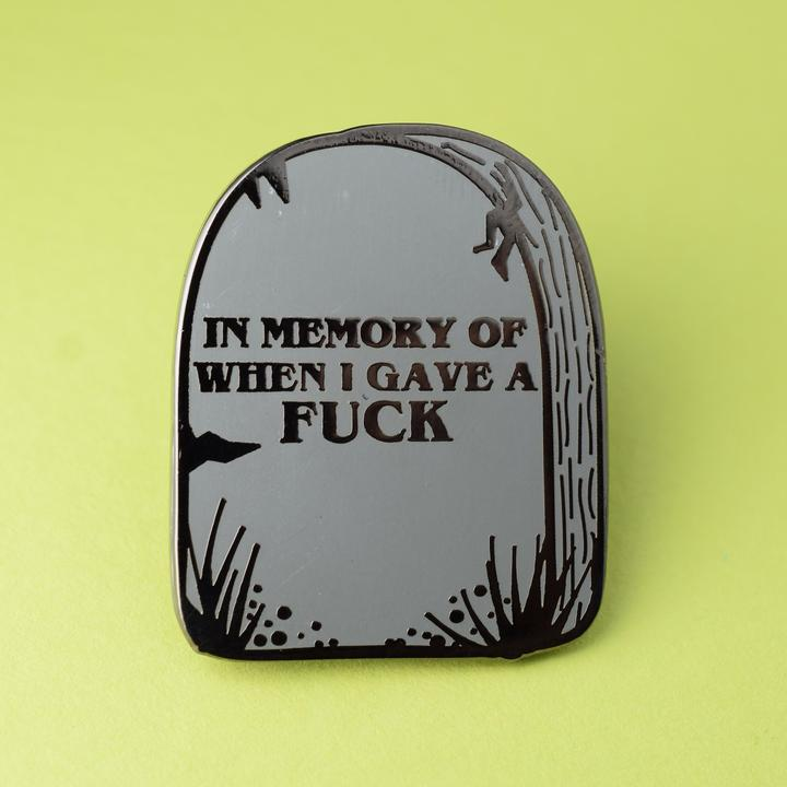 In Memory Pin available from Indie Edinburgh