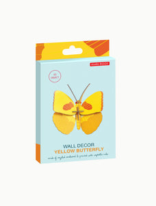 Studio Roof Yellow Butterfly Wall Decor from Indie Edinburgh