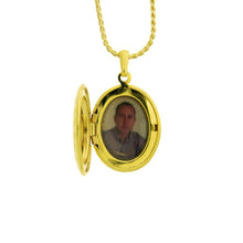 Load image into Gallery viewer, 18 karat gold plated locket pendant