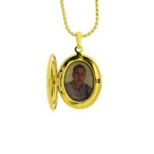 18 karat gold plated locket pendant