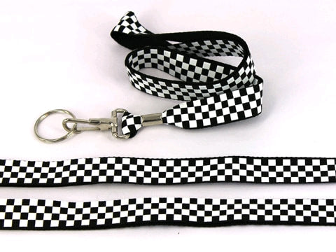 FINISH/ Chequered Flag Lanyard