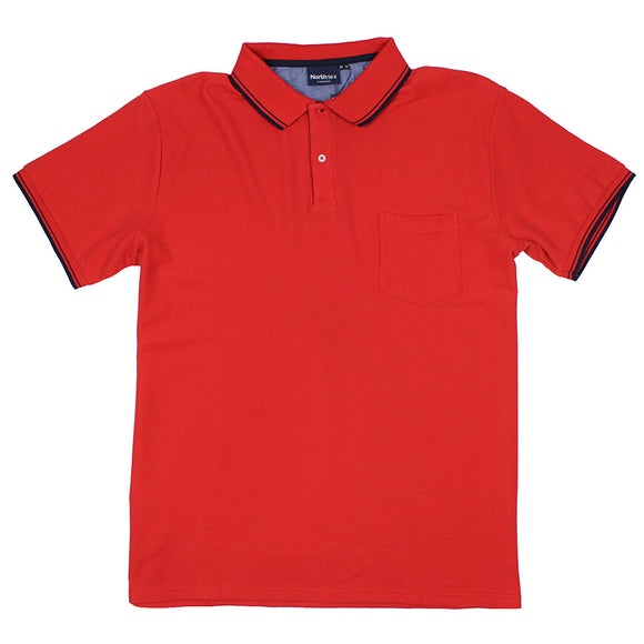 Tipped Collar Cotton Polo - North 56 - Mens Big Deals