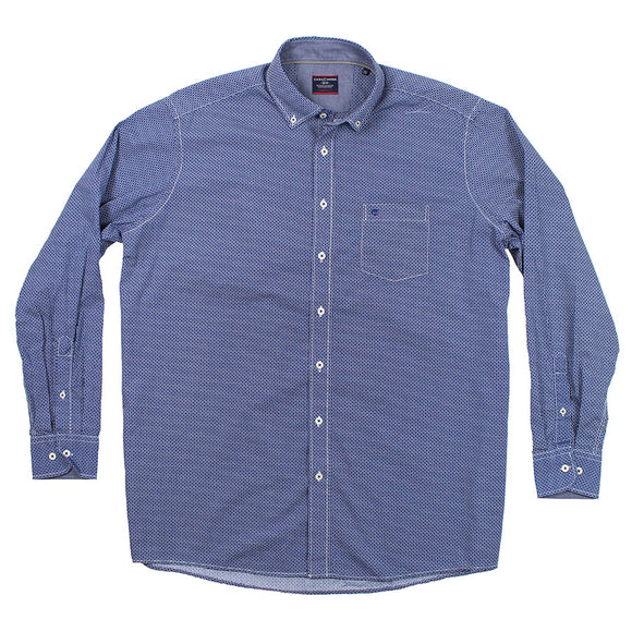 BD Box Print LS Shirt - Casa Moda - Mens Big Deals
