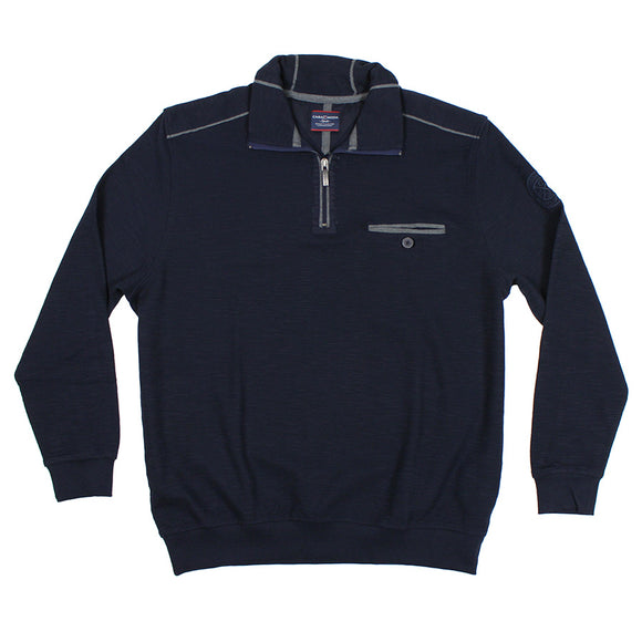 Half Zip Cotton Sweater - Casa Moda - Mens Big Deals