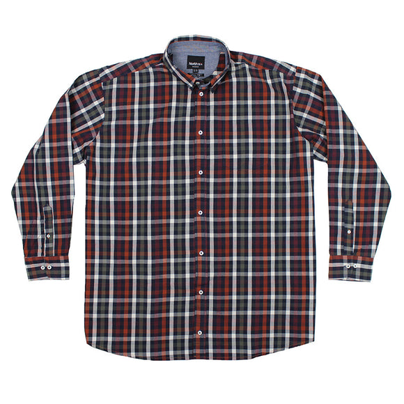 Check LS Cotton Shirt - North 56 - Mens Big Deals