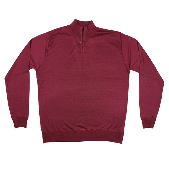 Tasman Half Zip Light Weight Knitwear - D555 - Mens Big Deals