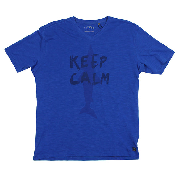 Keep Calm Print Tee - Kitaro - Mens Big Deals