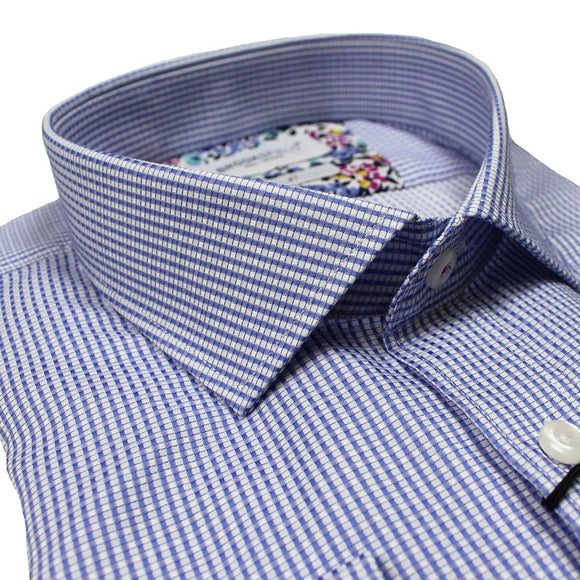 Cotton Two Colour Dobby Pattern Shirt - Brooksfield - Mens Big Deals