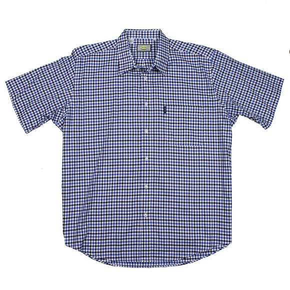 Cellular Cotton Check SS Shirt - Aertex - Mens Big Deals