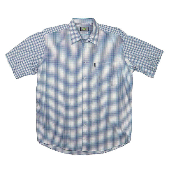 Cellular Cotton Check Shirt - Aertex - Mens Big Deals