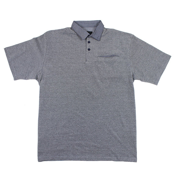 Contrast Two Tone Cotton Polo with Pocket - KAM - Mens Big Deals