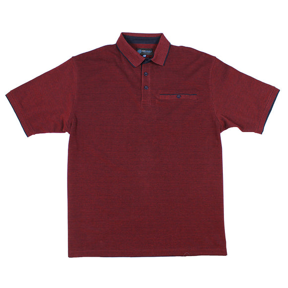 Marl Cotton Two Tone Polo with Pocket - KAM - Mens Big Deals