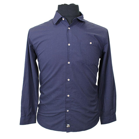 Cotton Birdseye Pattern with Contrast Shirt - North 56 - Mens Big Deals