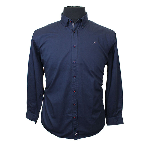 Cotton Drill Button Down Collar Shirt - North 56 - Mens Big Deals