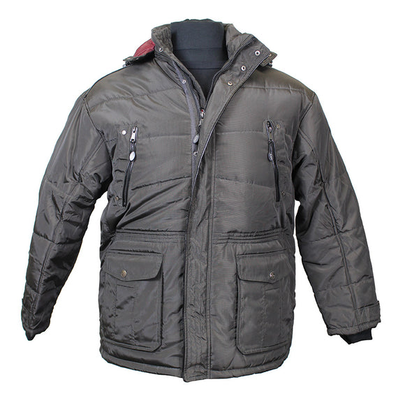 Quilted Style with Removable Hood Jacket - KAM - Mens Big Deals