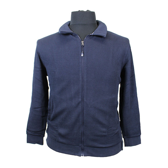 Cotton Collared Full Zip Knitted Top - Casa Moda - Mens Big Deals