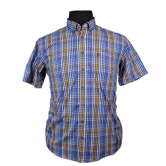 Pure Cotton Fashion Multi Check Shirt - Casa Moda - Mens Big Deals