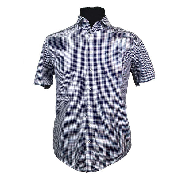 Pure Cotton Classic Mini Check Fashion Shirt - Casa Moda - Mens Big Deals