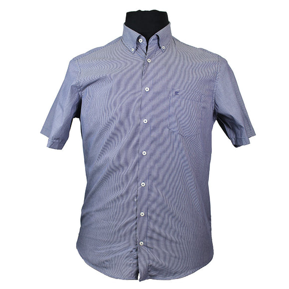 Pure Cotton Pin Stripe Buttondown Collar Fashion Shirt - Casa Moda - Mens Big Deals