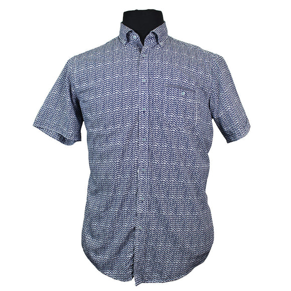 Stretch Cotton Dot Print Fashion Shirt - Casa Moda - Mens Big Deals