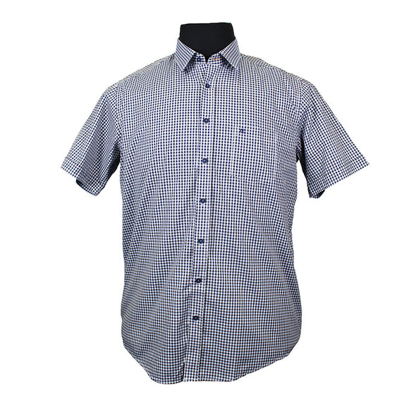 Pure Cotton Classic Mini Check Shirt - Casa Moda - Mens Big Deals