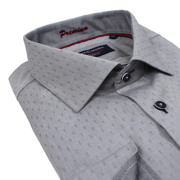 Non Iron Cotton Slub Pattern Business Shirt - Casa Moda - Mens Big Deals