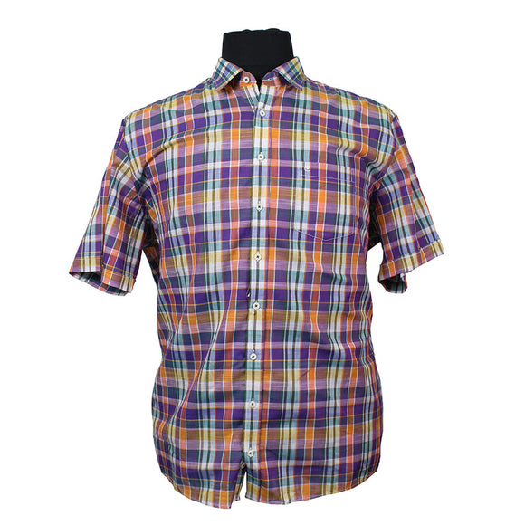 Cotton Comfort Fit Small Multi Check - Casa Moda - Mens Big Deals