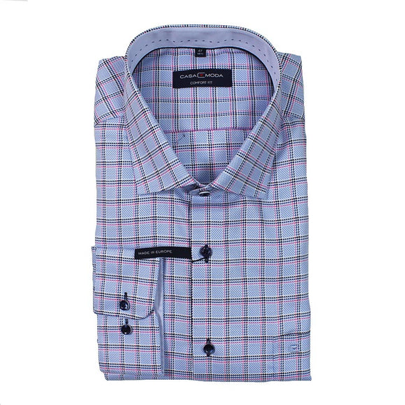 Pure Cotton Mini Check Pattern Fashion Shirt - Casa Moda - Mens Big Deals